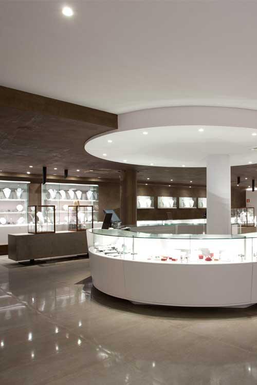 Interior de la tienda PerlArt en Palma de Mallorca