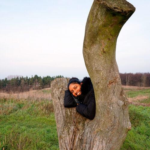 Marie i ett träd