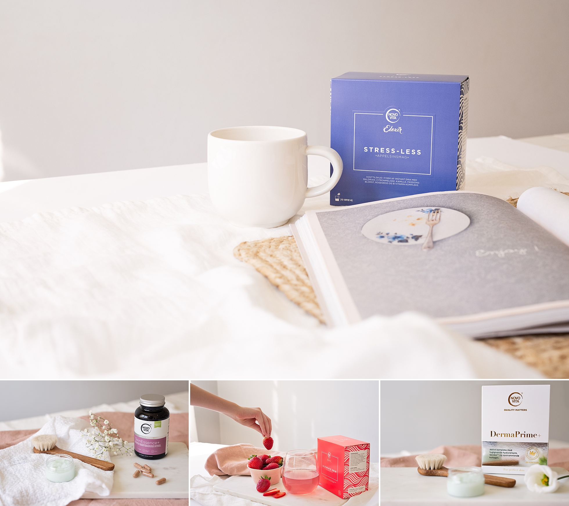 Pretty lifestyle images of healthcare products