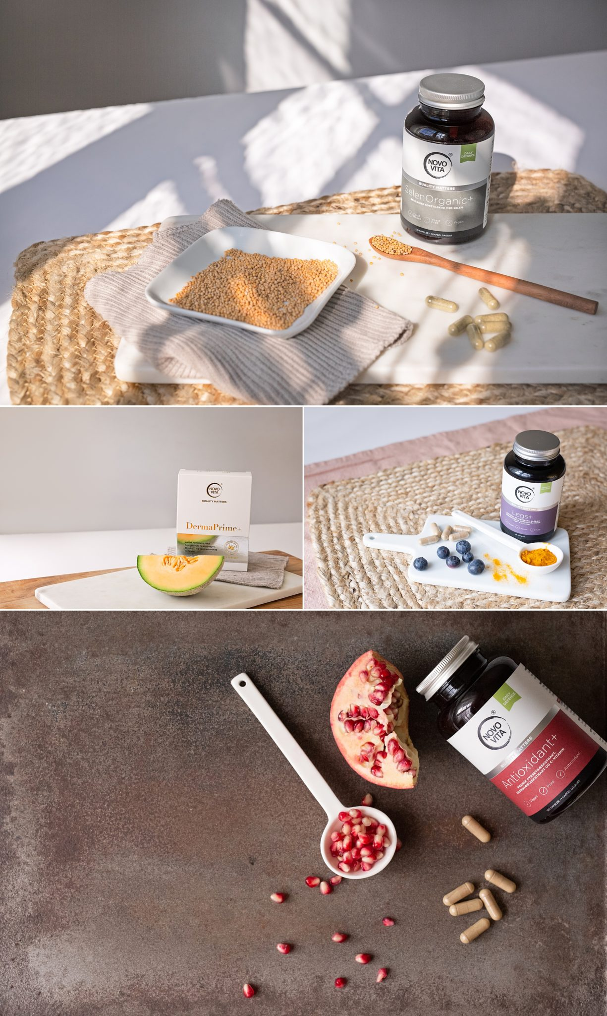 Natural photos of vitamins fruit and spices