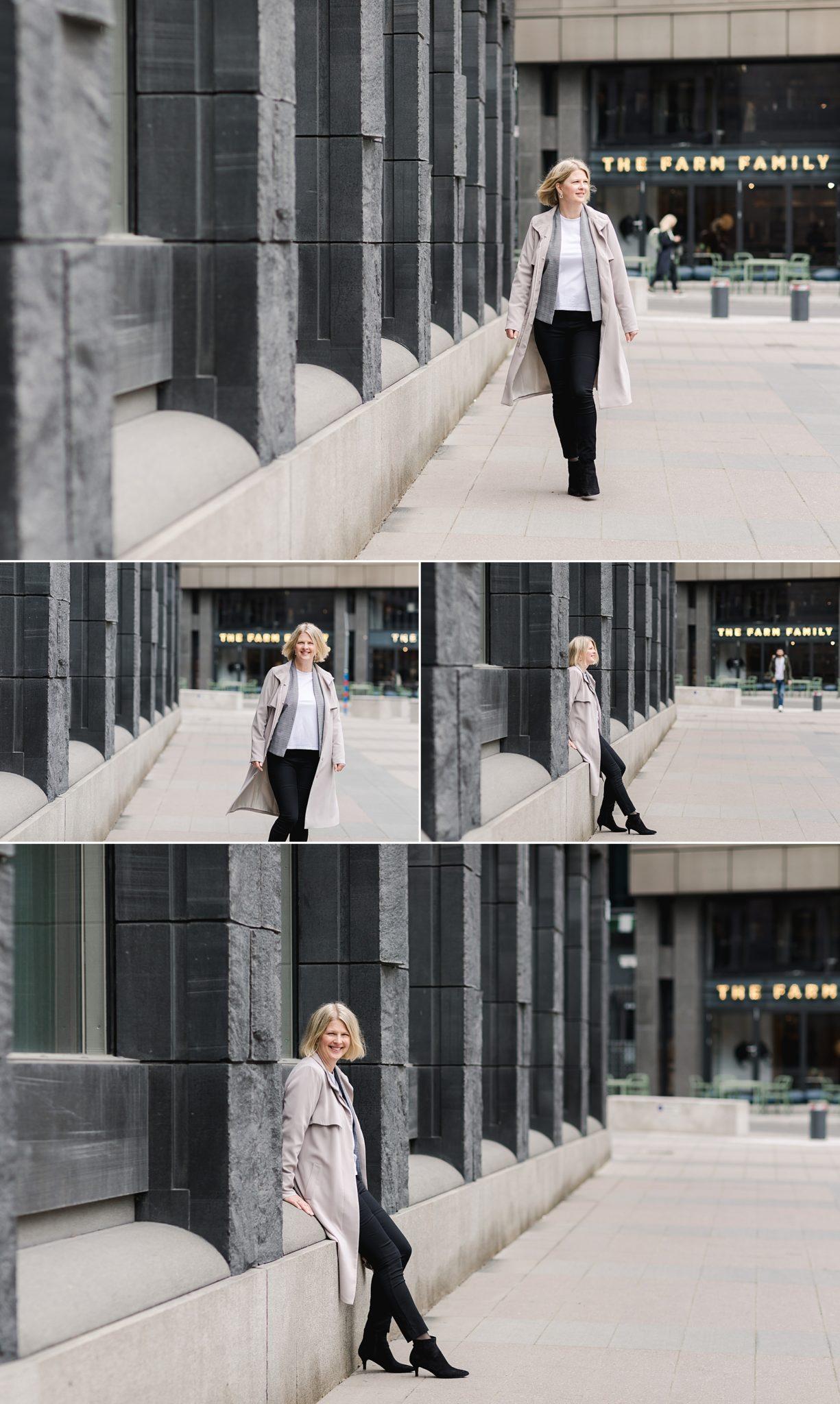 A female IT professional at Brunkebergstog, a beautiful photo shoot location