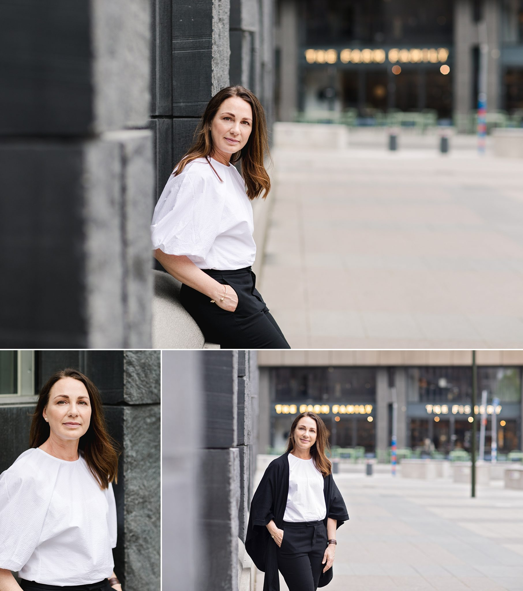A female IT professional at Brunkebergstorg, a beautiful photo shoot location in Stockholm