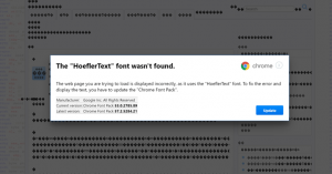 font not found malware