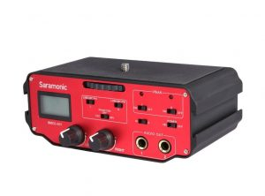 saramonic professional audio for dslr cameras front right side