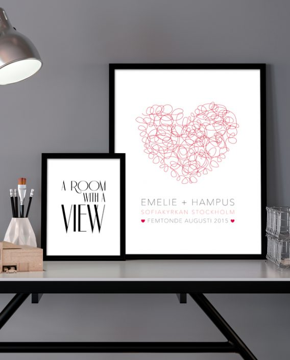 Poster Heart & Room with a View