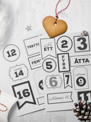 Etiketter Julkalender