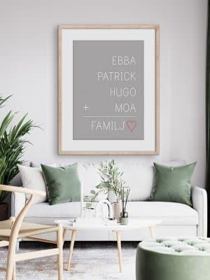 Poster Familjen