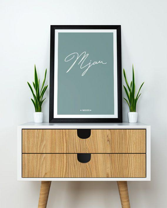 Poster Mjau/Voff