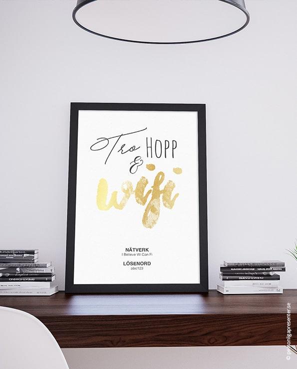 Poster Tro Hopp & Wifi