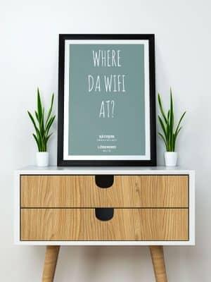 Poster Where da Wifi