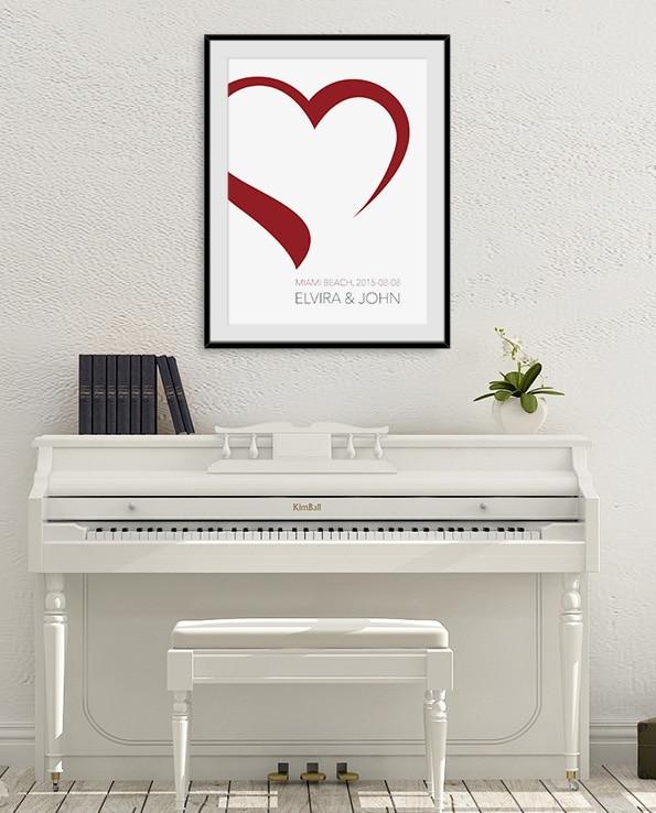 Poster Hjärta