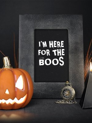 Halloweenposter I'm here for the boos