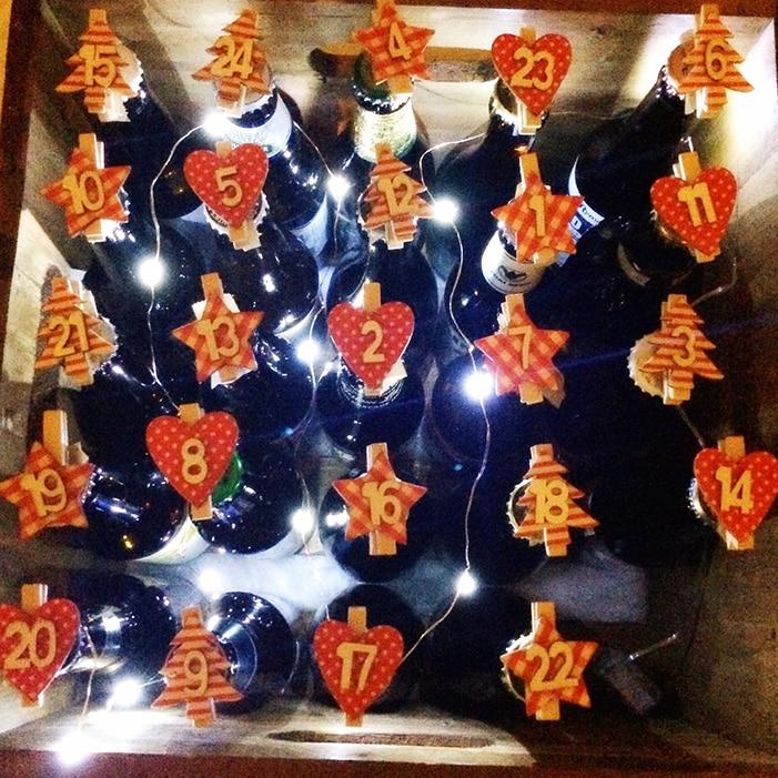 Ölkalender med belysning