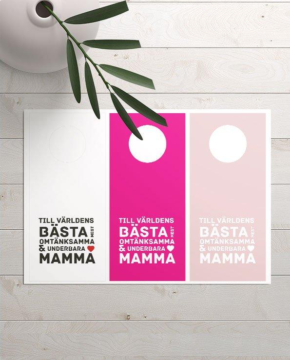 Flaskhängare Världens omtänksamma mamma