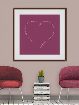 Poster Hjärta text