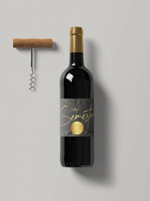 Vinetiketter Svart Guld