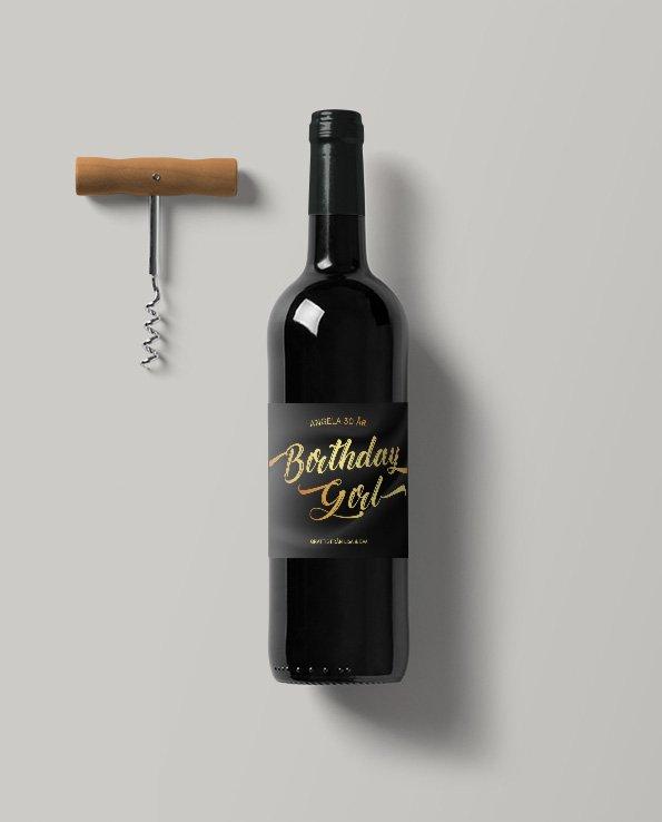 Vinetiketter Black Silk
