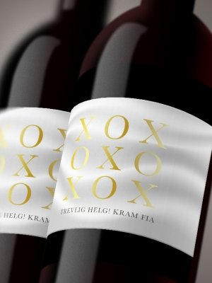 Vinetiketter XOXO vit