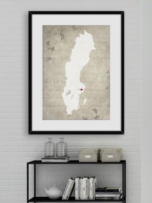 Sverigekarta Stockholm