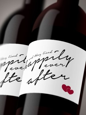 Vinetiketter Happily ever after