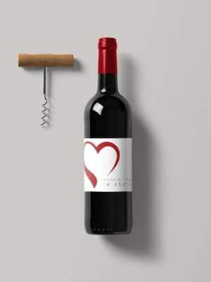 Vinetiketter Hjärta
