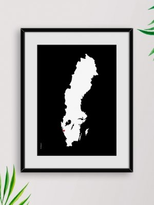 Poster Sverigekarta Göteborg