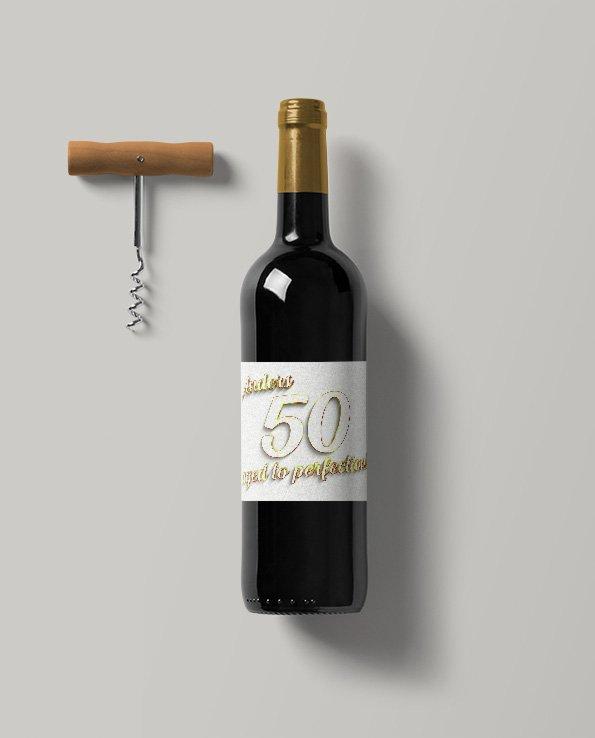Vinetiketter Vit läder