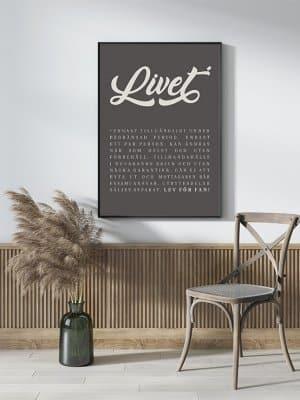 Poster Livet