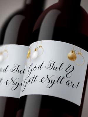 Vinetiketter Julgranskulor