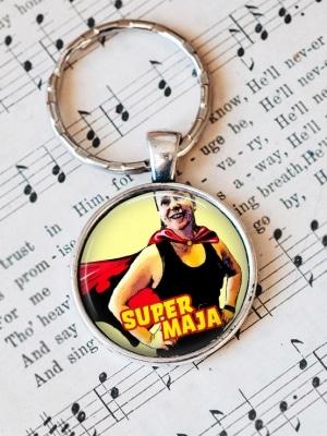 Nyckelring Superhjälte