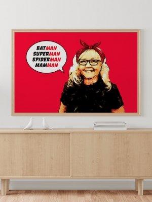 Poster Superhjälte