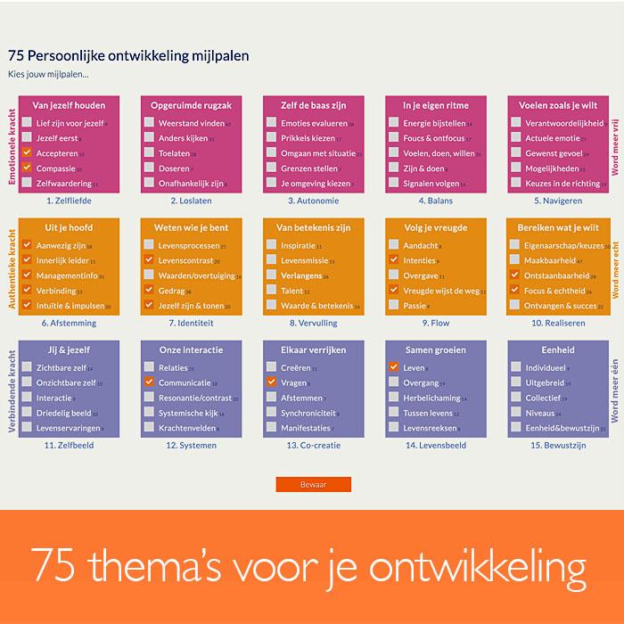 75 thema's voor je ontwikkeling