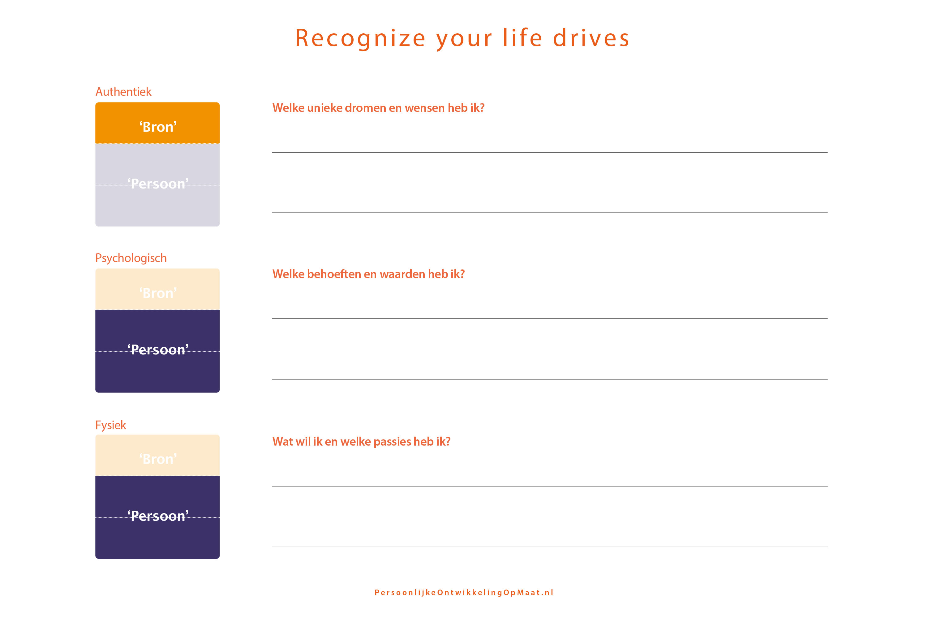 Recognize your drives template