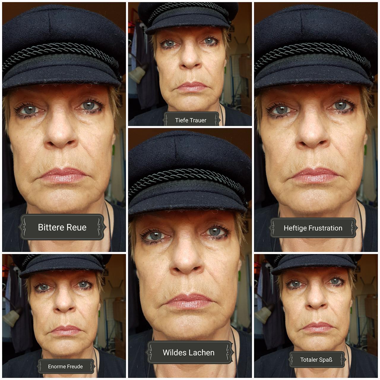 Typische Emotionen in einem norddeutschen Gesicht