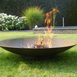Corten Steel Fire Pit 100cm