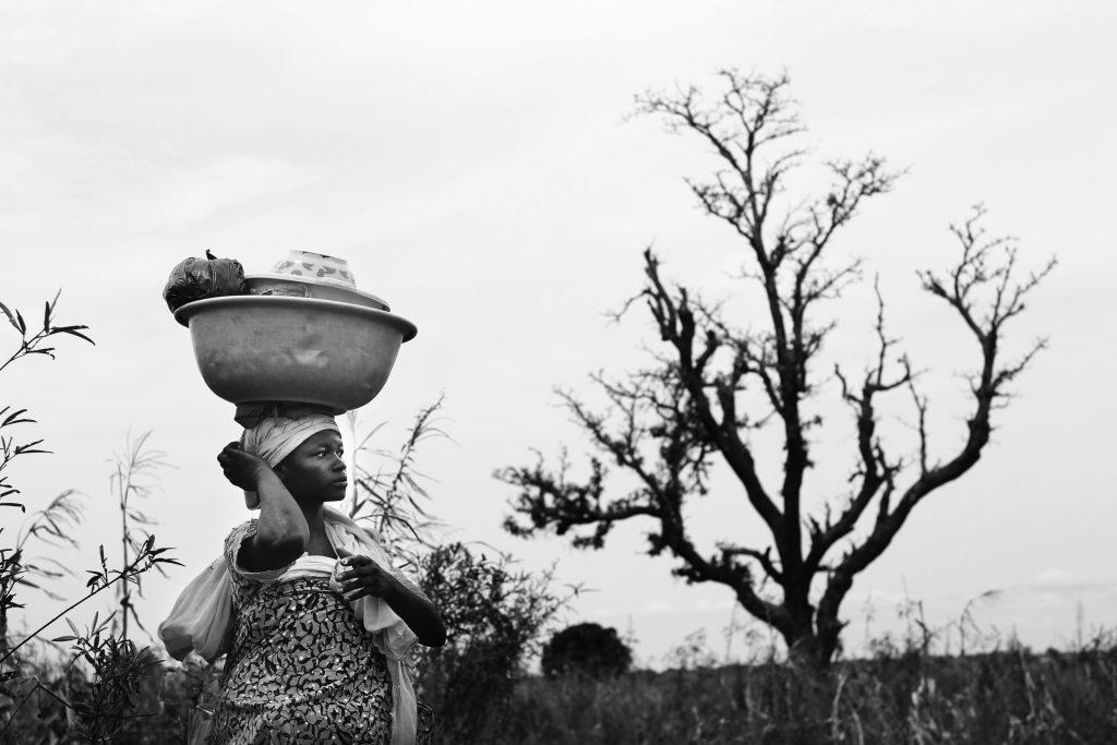 Woman and Tree - Ghana