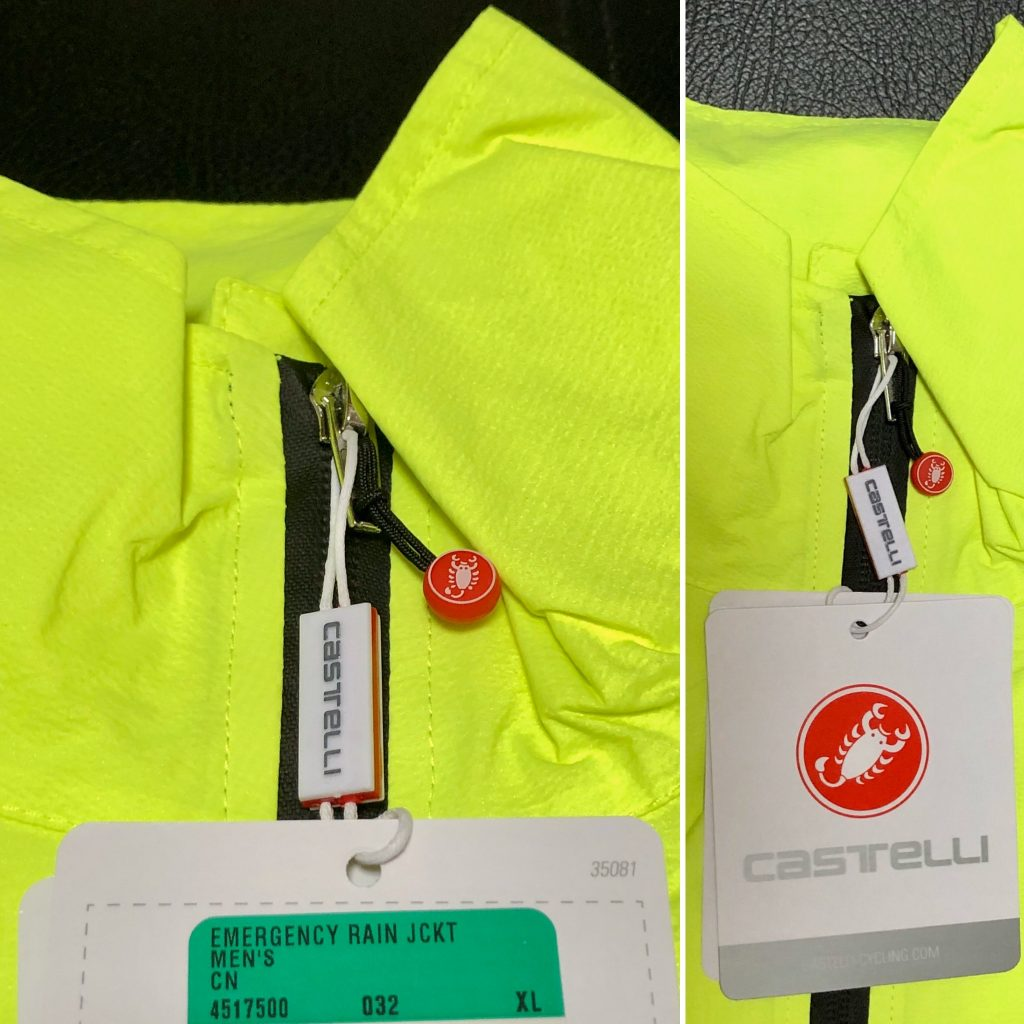 Castelli Emergency Rain Jacket Yellow as used in Wicklow 200Castelli Emergency Rain Jacket Yellow as used in Wicklow 200