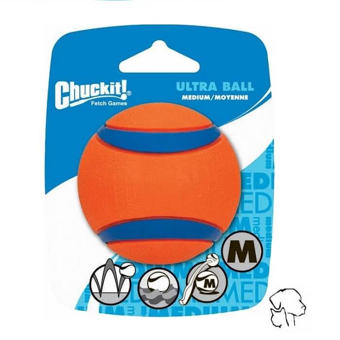 Chuckit ultra ball, sterke bal van chuckit te gebruiken in een werpstok.