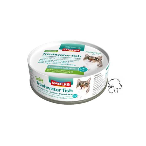 Smolke kattenblikjes. Natvoer voer uw kat, vis pate. Een lekkere complete maaltijd voor uw kat