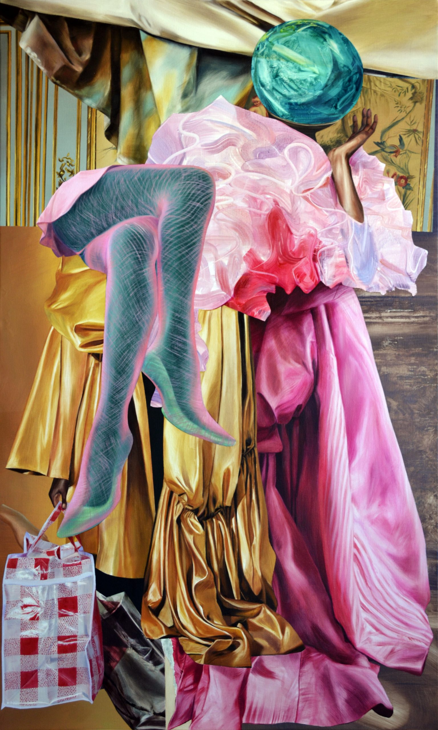 Martyna Borowiecka. Delightful afternoon heaviness. 170 x 100 cm. Oil on canvas. 2019