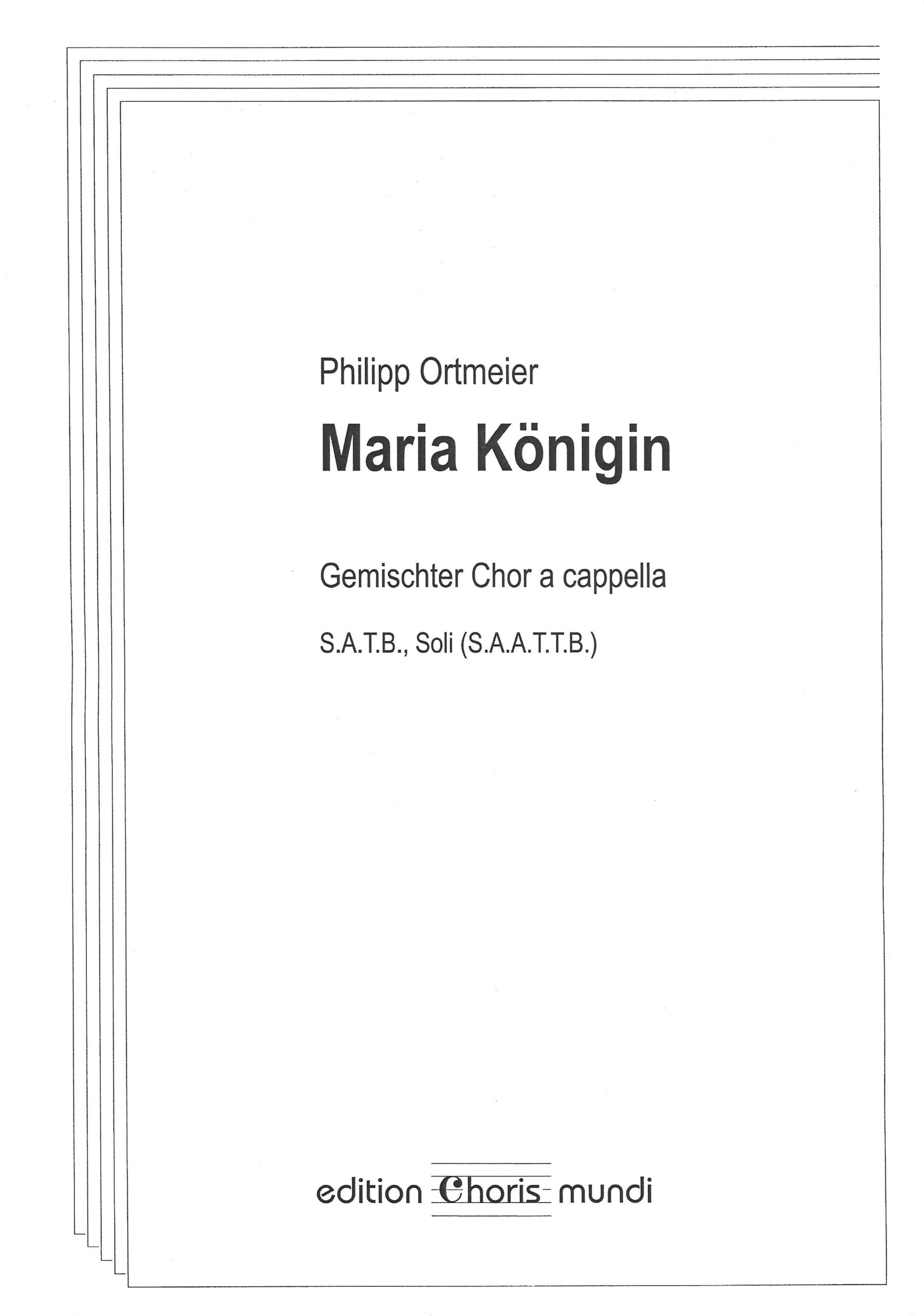 Noten-Cover »Maria Königin«