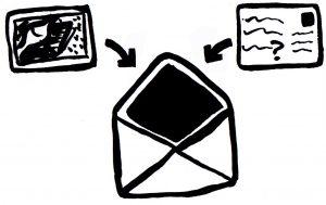 Process - Postcards get sent to philosophers