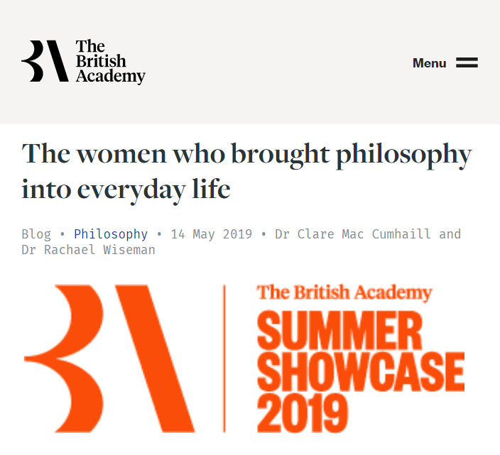 The British Academy - The women who brought philosophy into everyday life