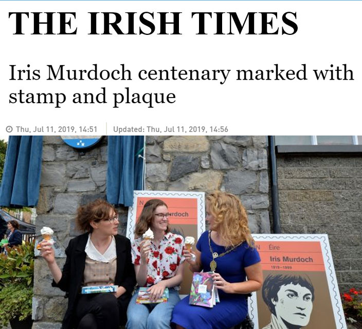 Irish Times - Iris Murdoch centenary marked with stamp and plaque