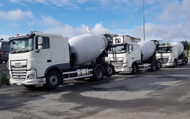 Mångårig erfarenhet av transporter till olika betongentreprenörer och privatpersoner