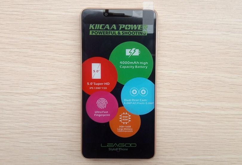 leagoo kiicaa power full screen with sticker