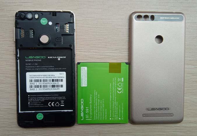 leagoo kiicaa power inside and battery