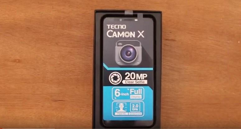 tecno camon x box opening