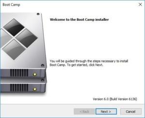 boot camp installer