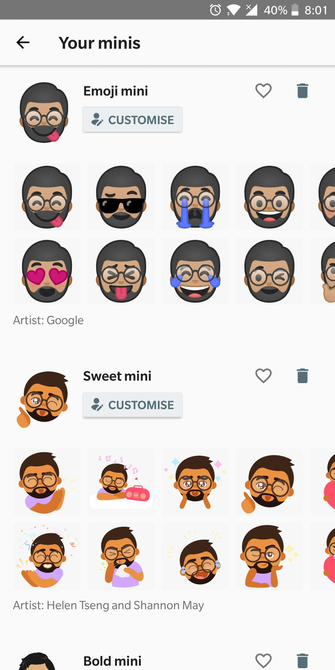 Emoji Stickers created